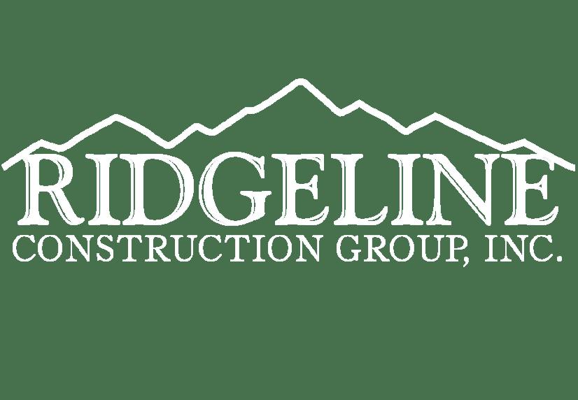 Ridgeline Construction White Logo