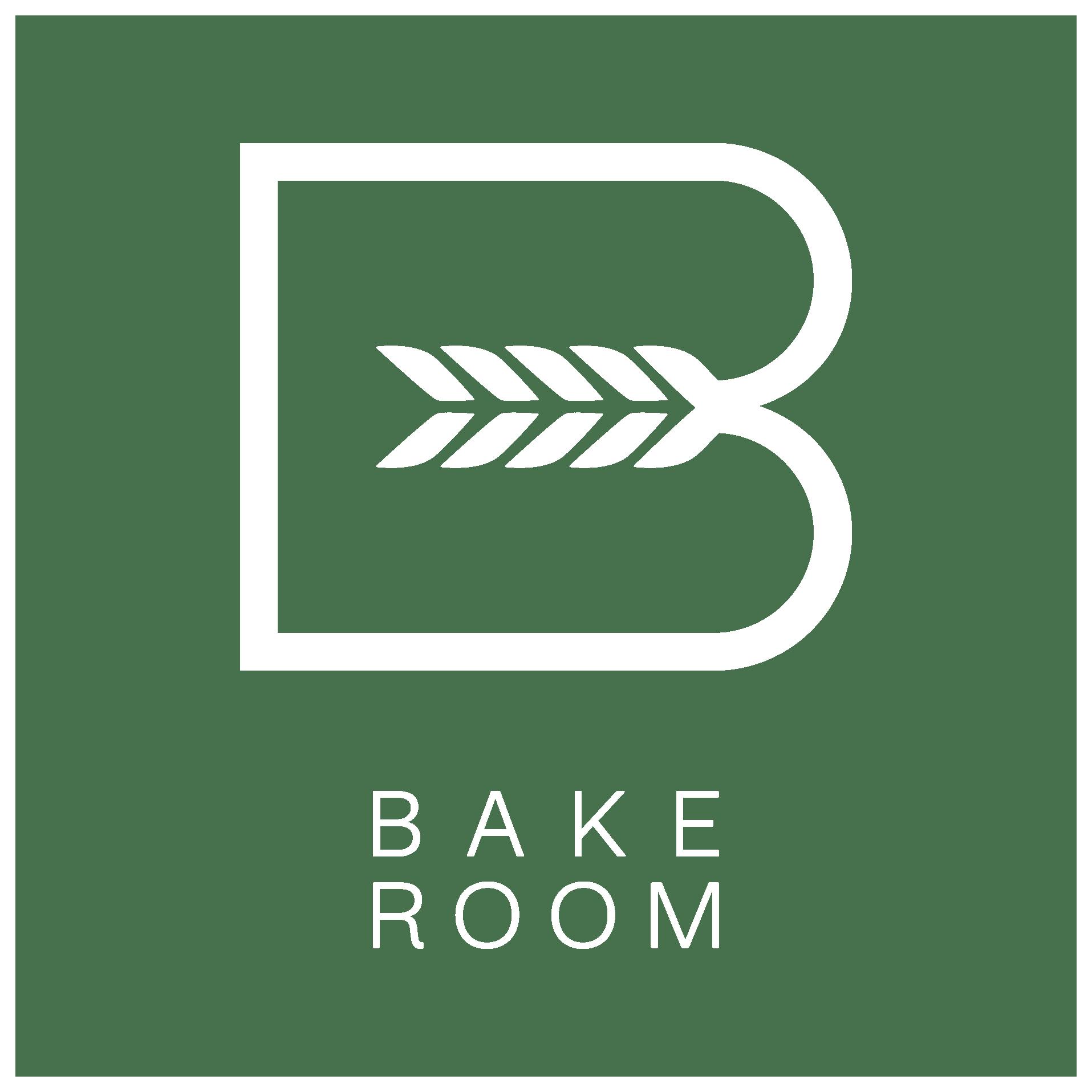 Bake Room White Logo