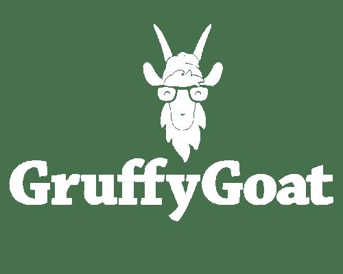 GruffyGoat White Logo