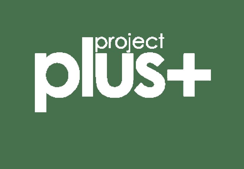 Project Plus White Logo